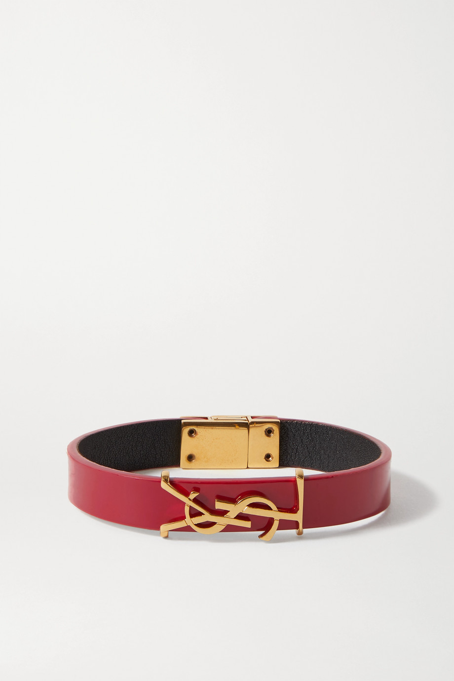SAINT LAURENT Goldfarbenes Armband aus Lackleder