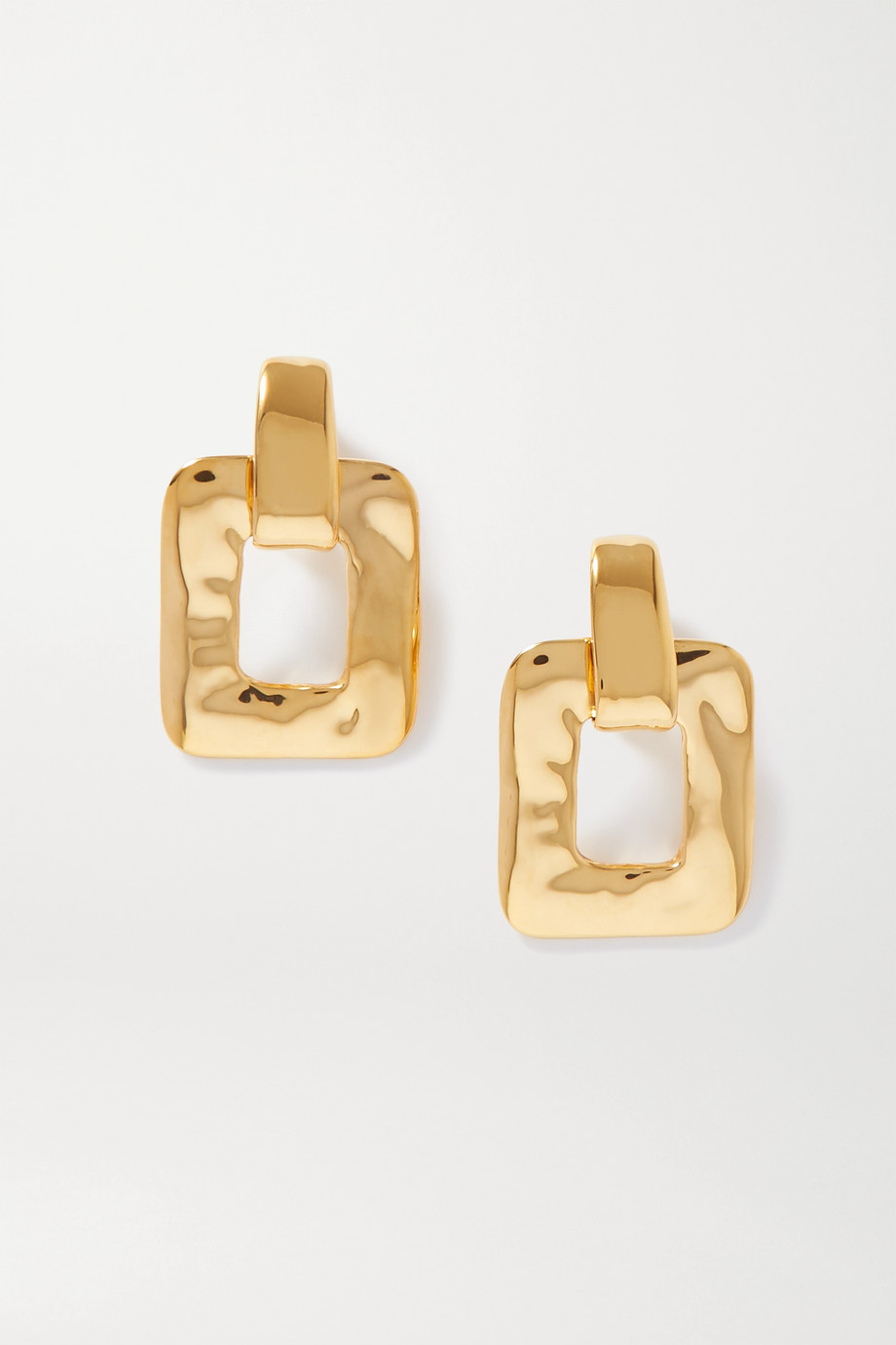 SAINT LAURENT Oversized gold-tone clip earrings