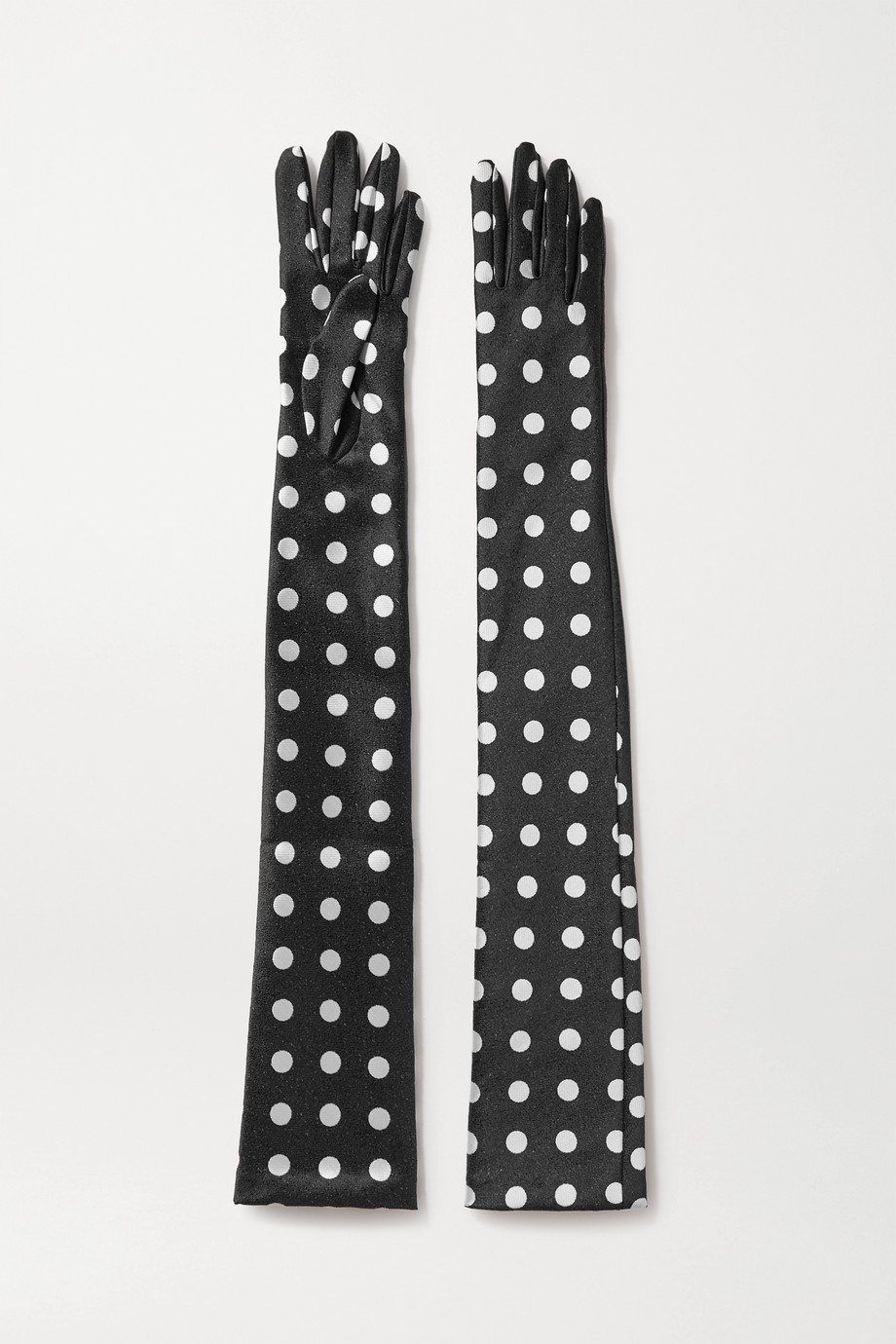 Emilia Wickstead Polka-dot satin-jacquard gloves