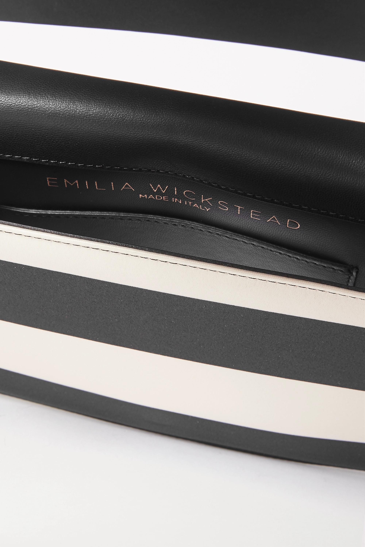 Emilia Wickstead Striped satin clutch