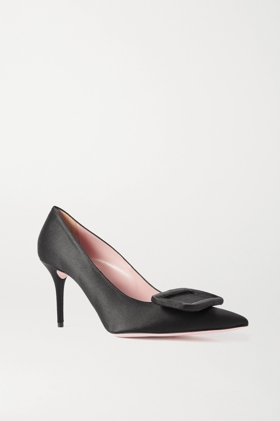 Emilia Wickstead Sophia buckled satin pumps