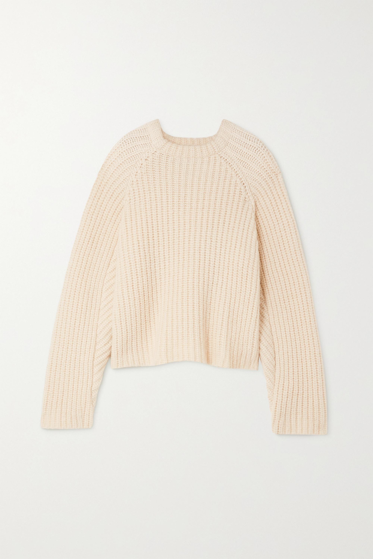 Envelope1976 + NET SUSTAIN Seoul Pullover aus einer geripptem Mischung aus Alpakawolle, Baumwolle und Merinowolle