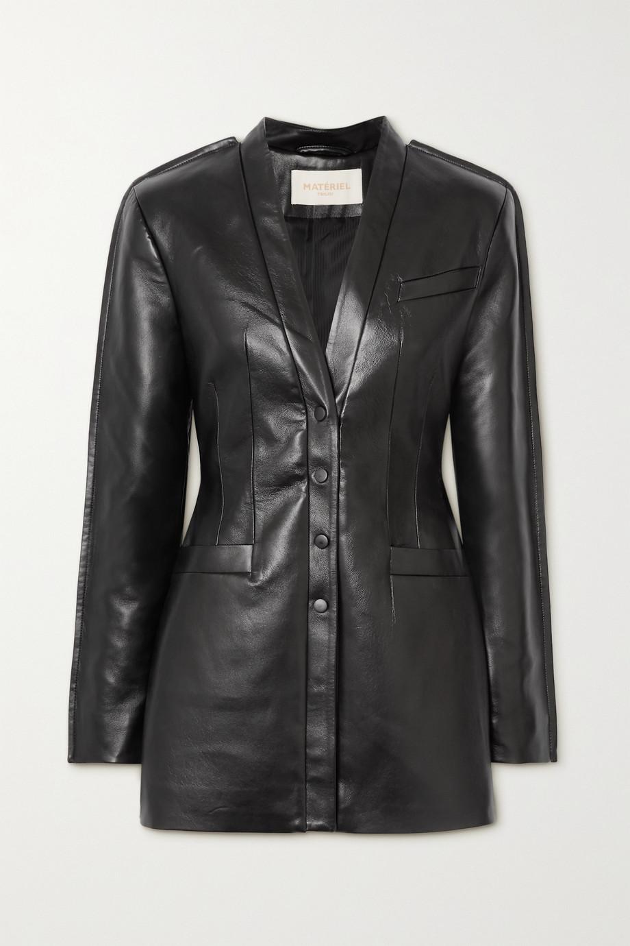 MATERIEL Mini-robe en cuir synthétique