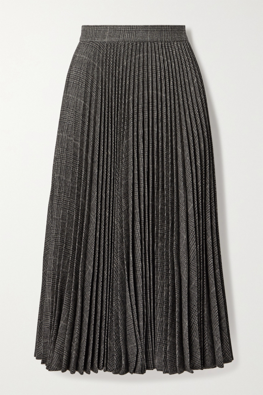 Michael Kors Collection Pleated houndstooth wool-blend midi skirt