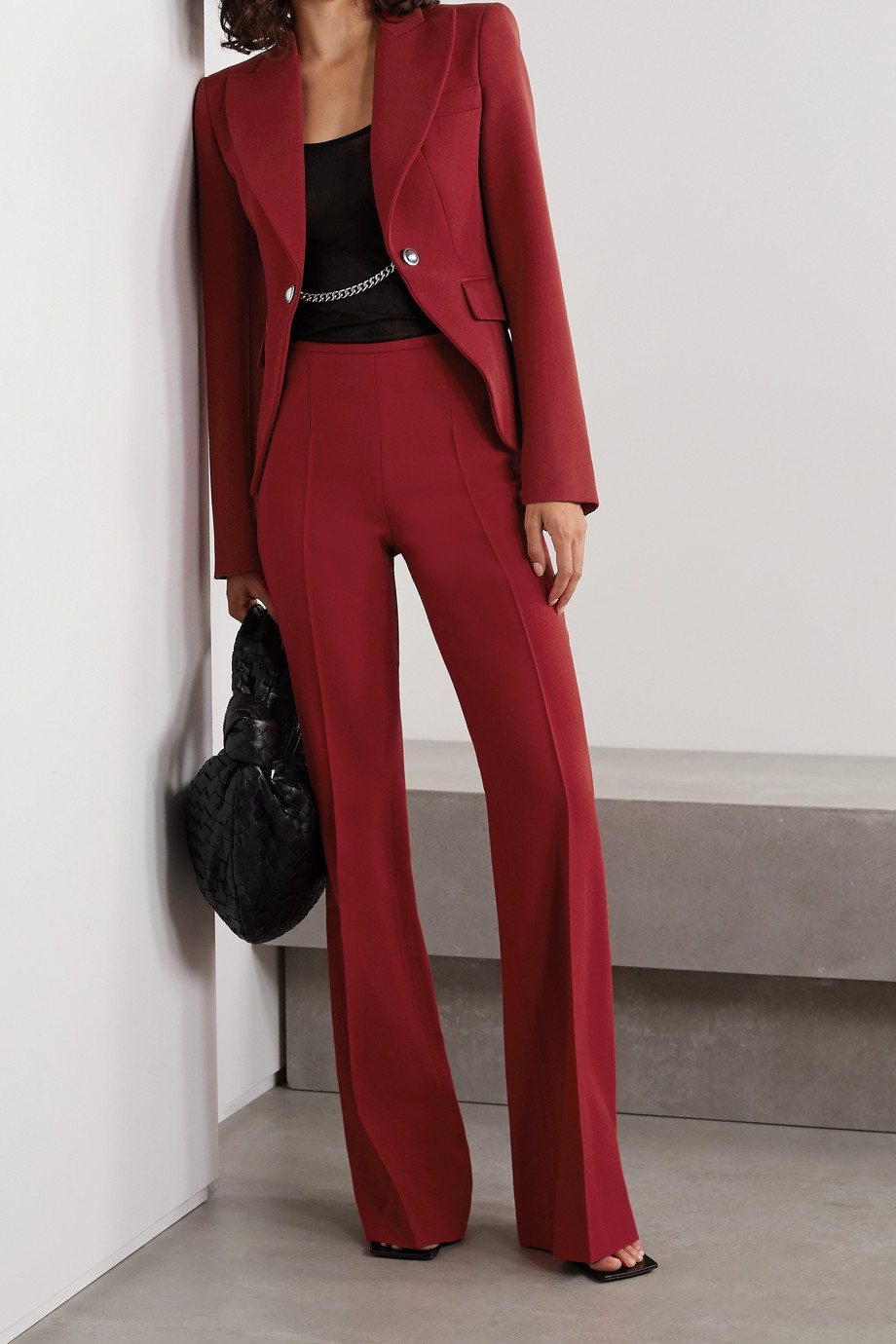 Michael Kors Collection Chain-embellished wool-twill blazer