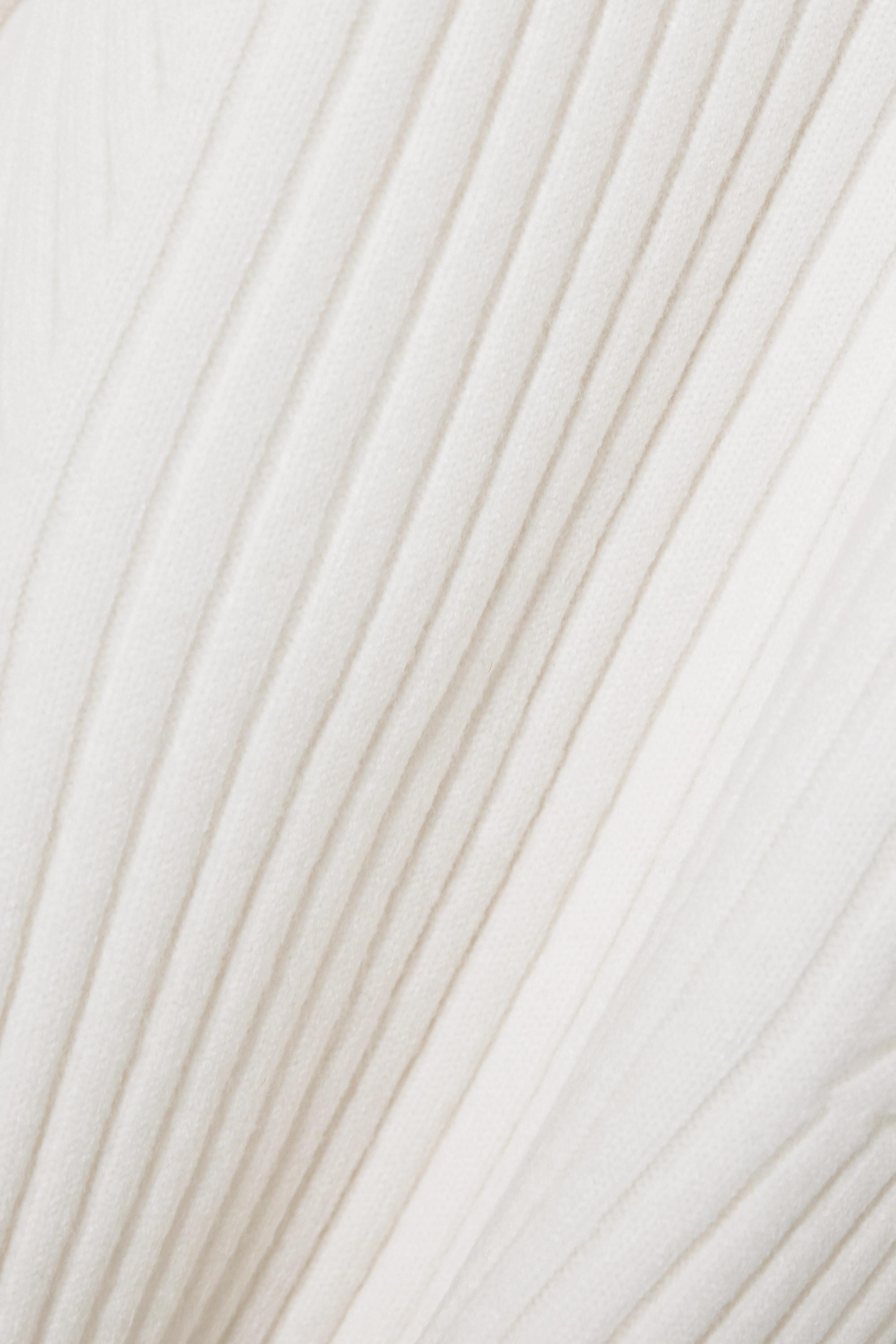 LOW CLASSIC Pull asymétrique en mailles côtelées