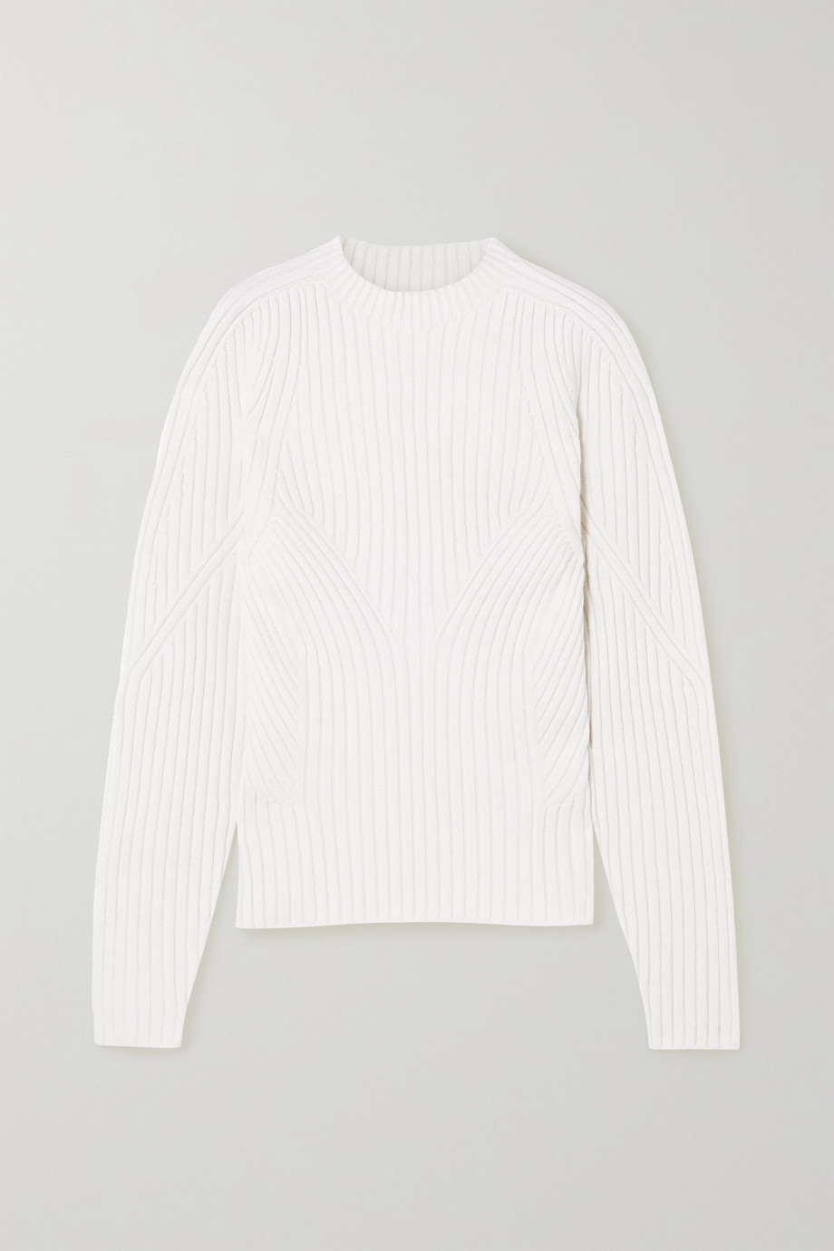 LOW CLASSIC Cutout ribbed-knit sweater
