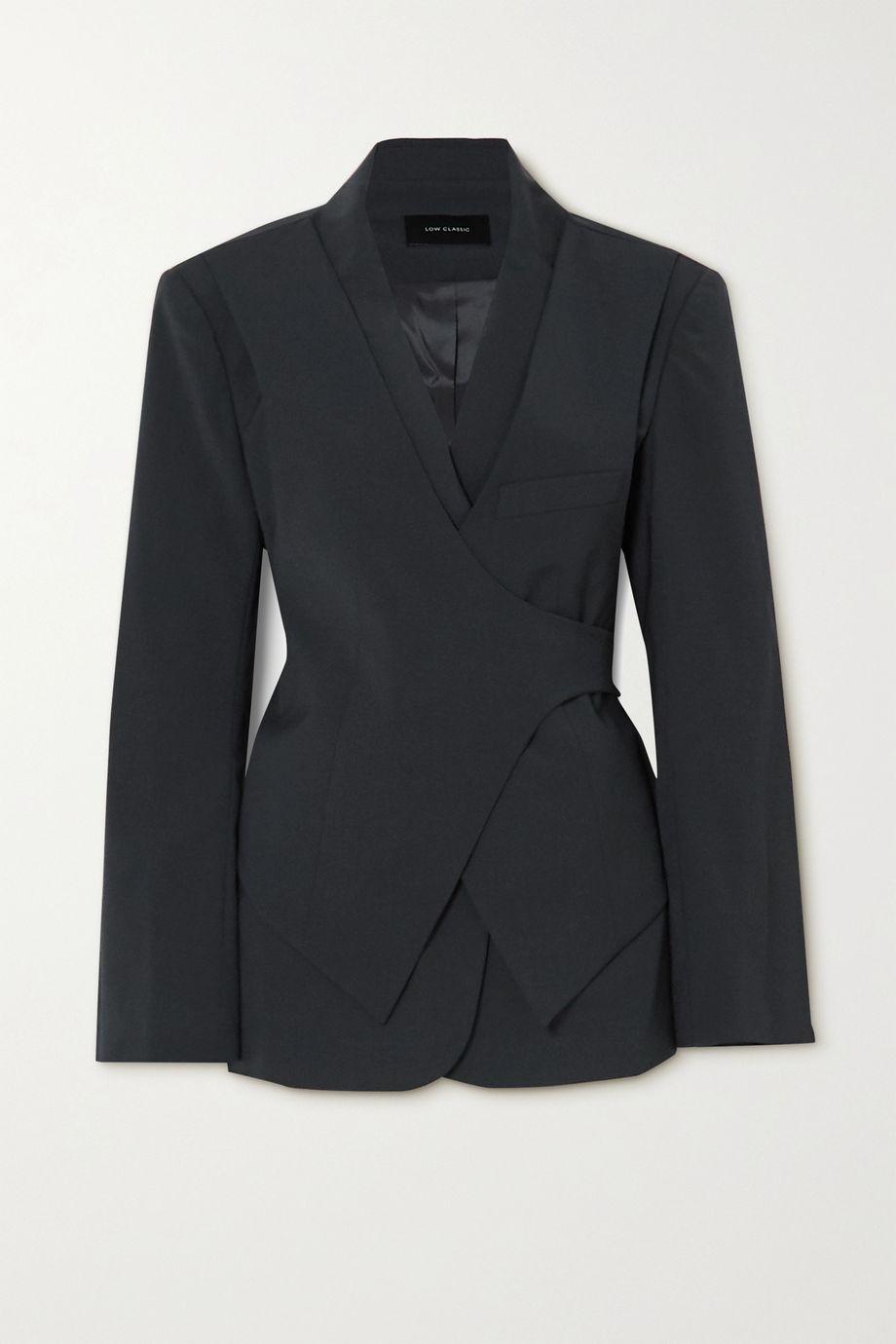 LOW CLASSIC 分层式梭织围裹式西装外套