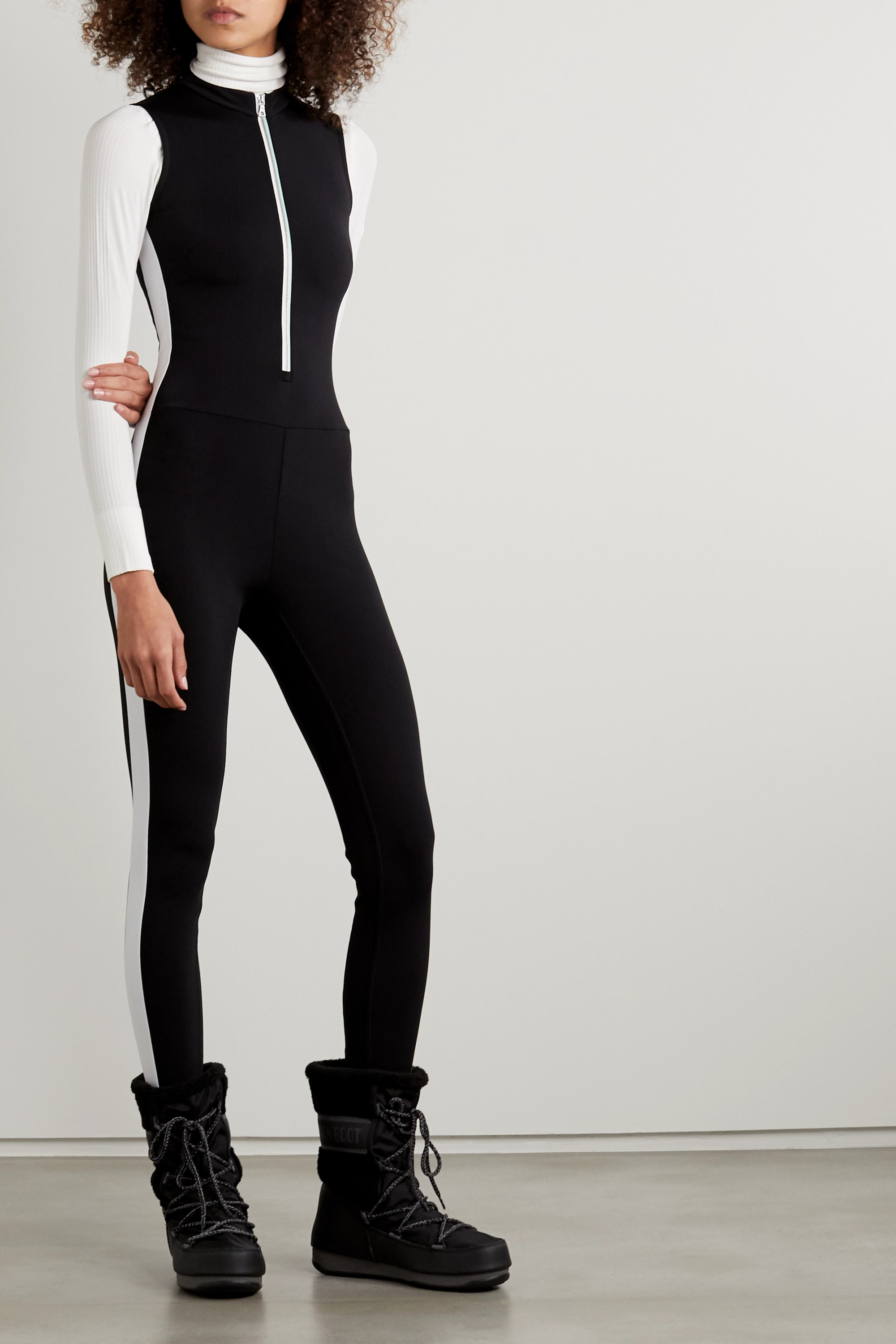 Vaara Dean Thermal striped stretch bodysuit