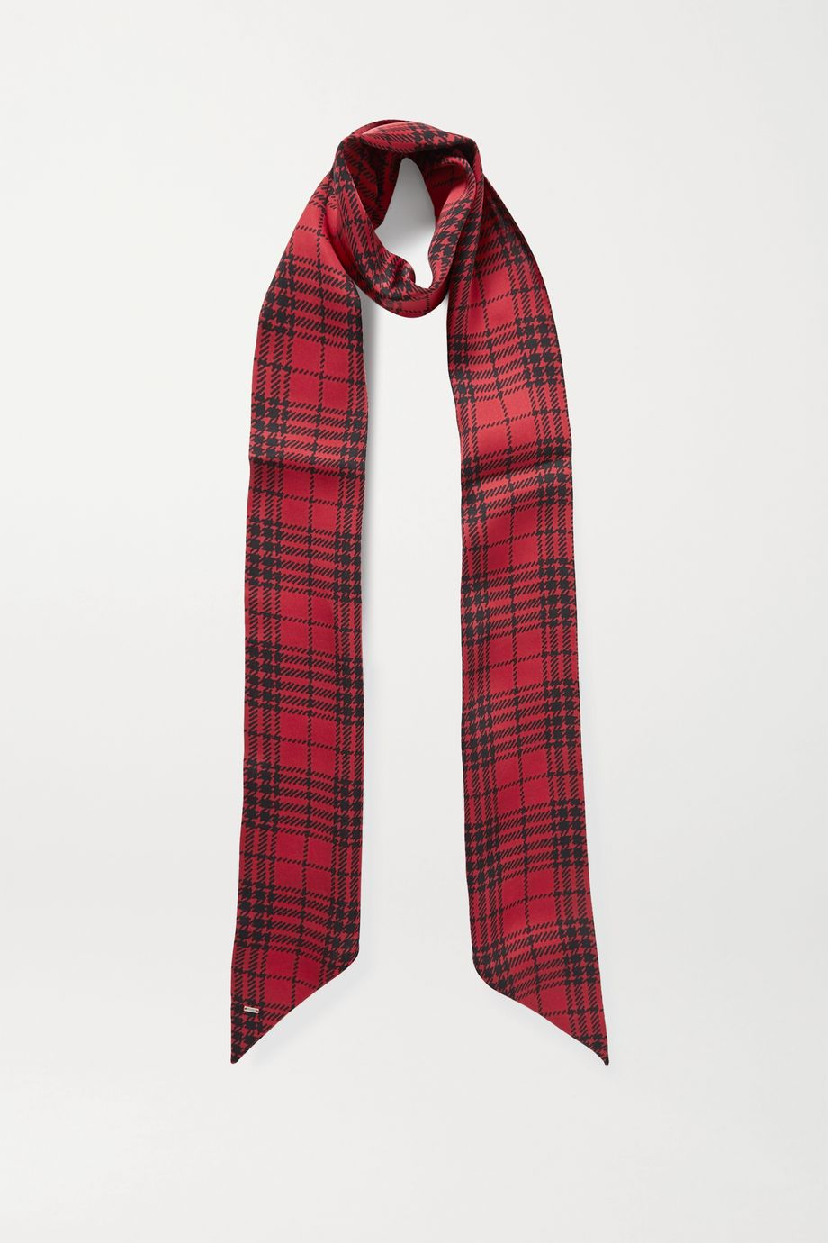 SAINT LAURENT Checked silk scarf