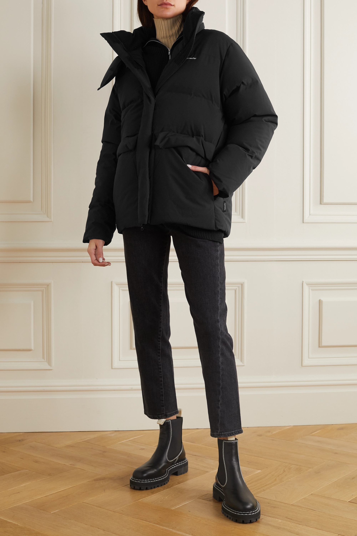 Holzweiler Besseggen hooded quilted shell down jacket