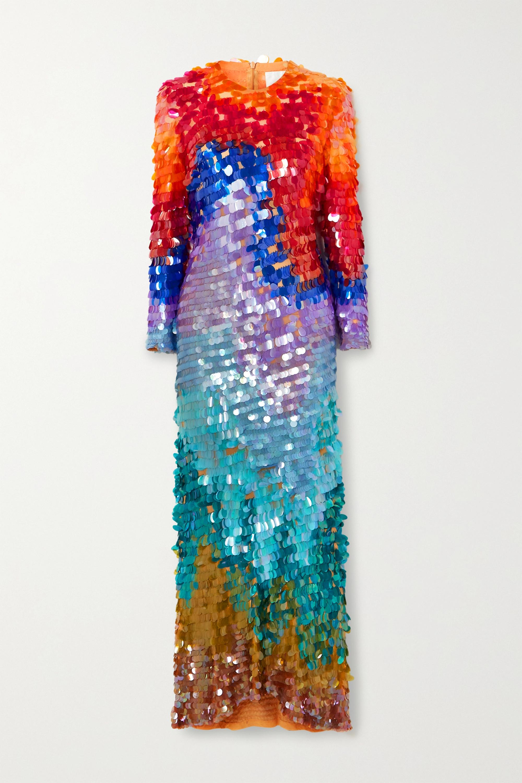 Ashish Sequined chiffon gown