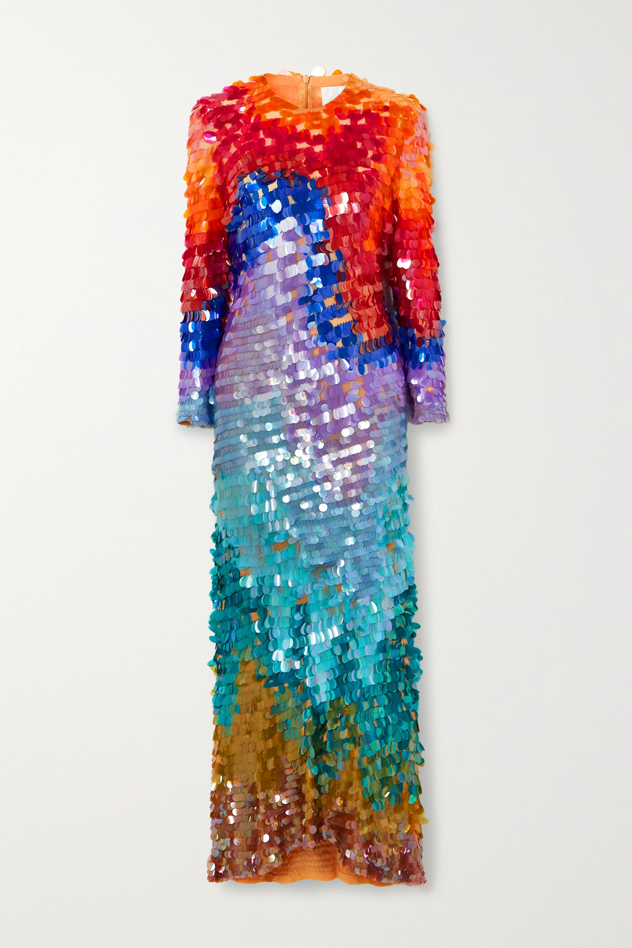 Ashish Sequined chiffon gown
