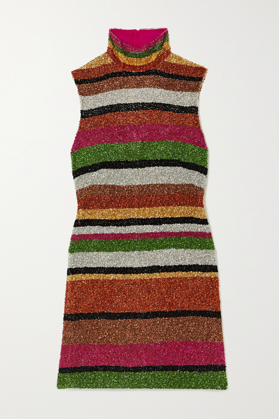 Ashish Open-back sequined chiffon mini dress