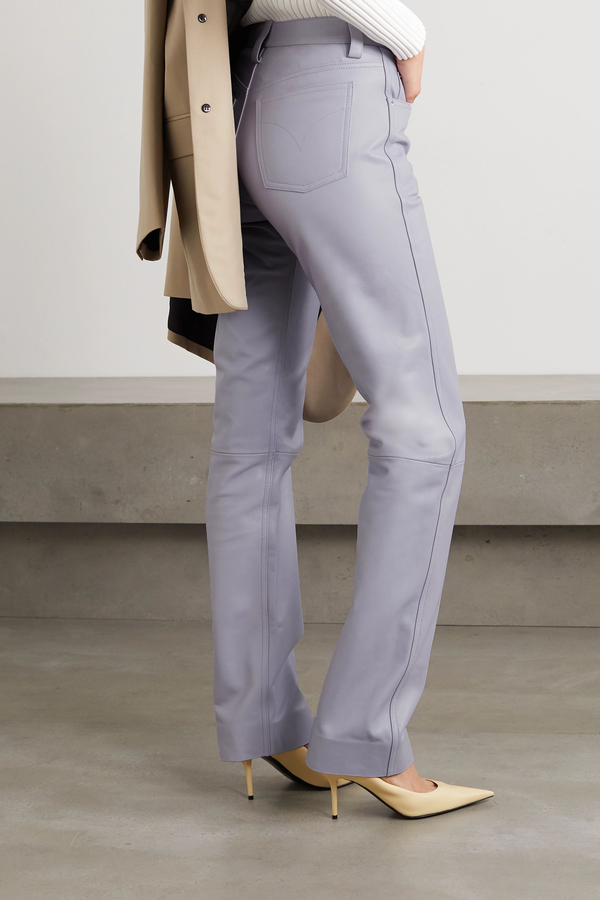 Kwaidan Editions Leather high-rise straight-leg pants