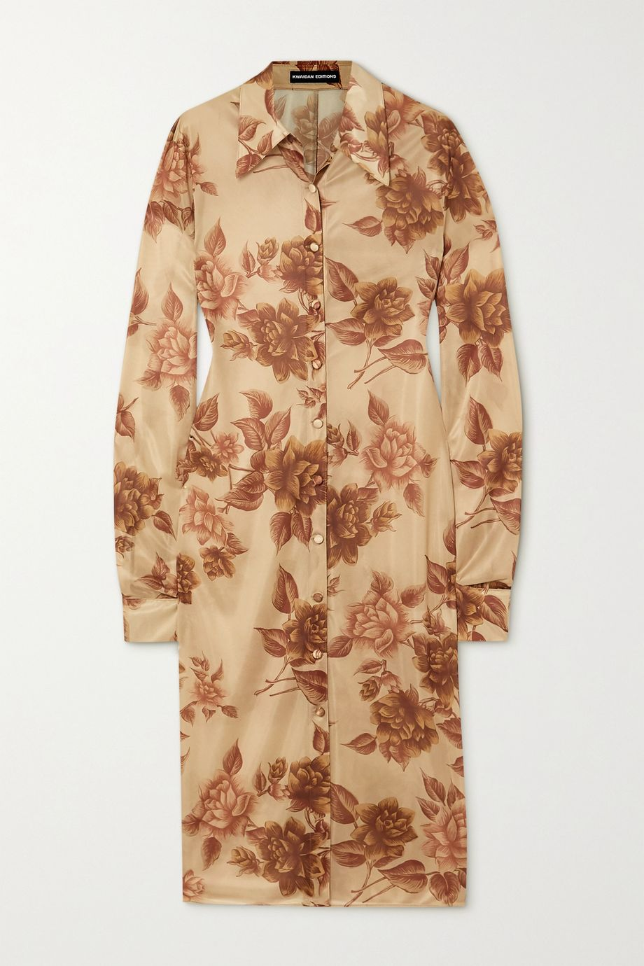 Kwaidan Editions Floral-print jersey shirt dress