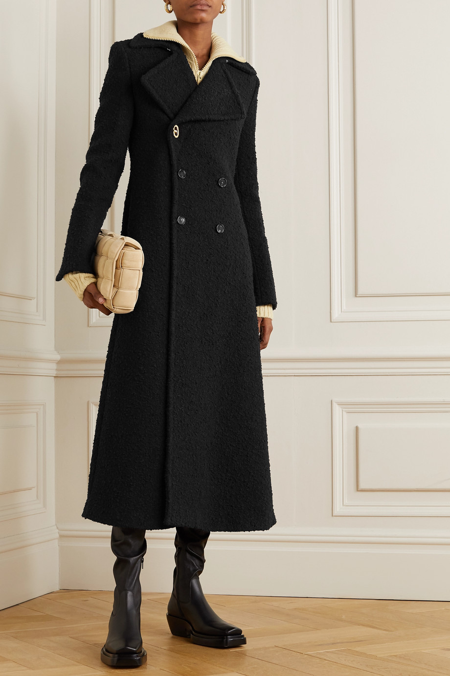 Bottega Veneta Double-breasted bouclé coat