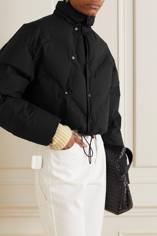 Bottega Veneta Doudoune à capuche en coton mélangé