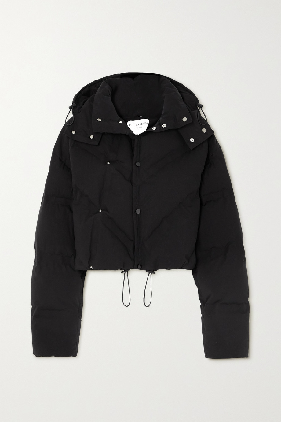 Bottega Veneta Hooded quilted cotton-blend jacket