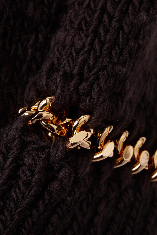 Bottega Veneta Mantel aus einer Wollmischung mit Ketten