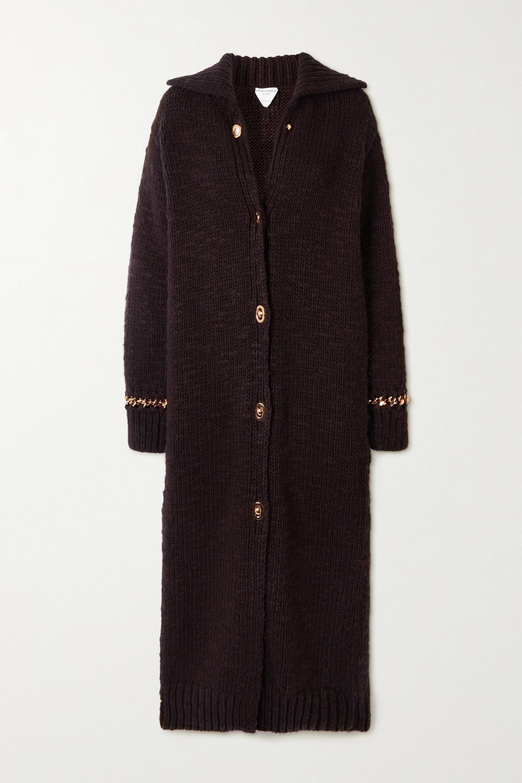Bottega Veneta Manteau en laine mélangée à chaîne