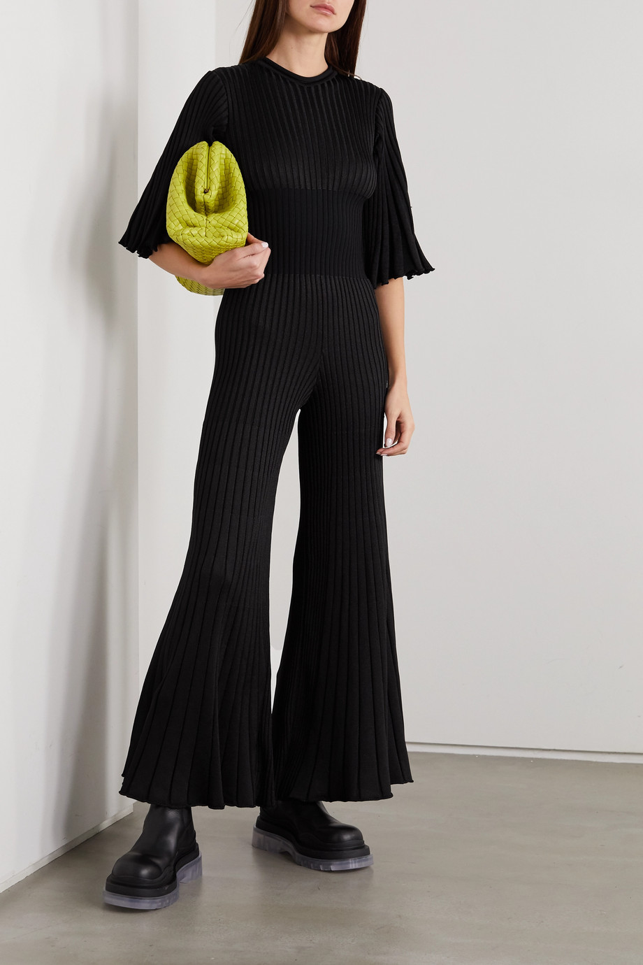 Bottega Veneta Combi-pantalon en mailles côtelées