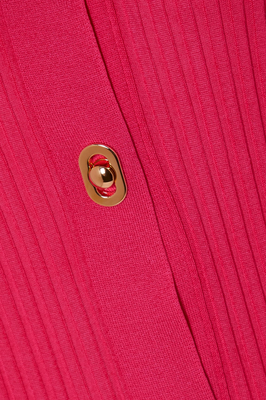 Bottega Veneta Cardigan en coton et soie mélangés côtelés