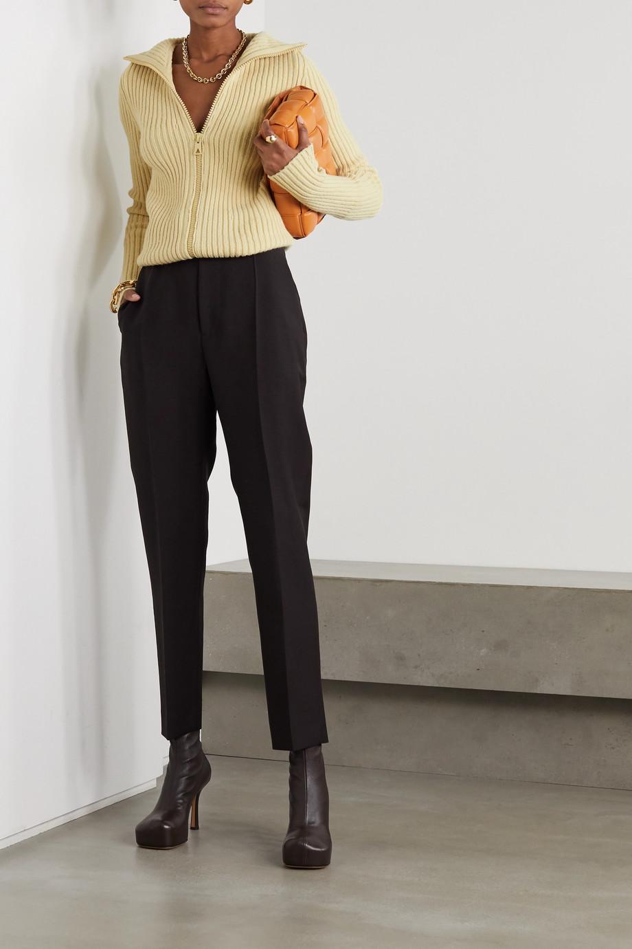 Bottega Veneta Cardigan aus einer gerippten Wollmischung