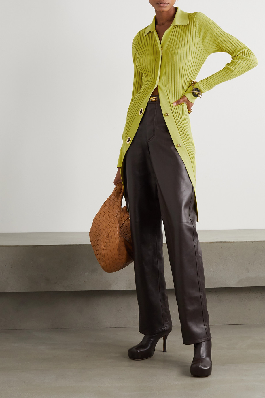 Bottega Veneta Ribbed cotton and silk-blend cardigan