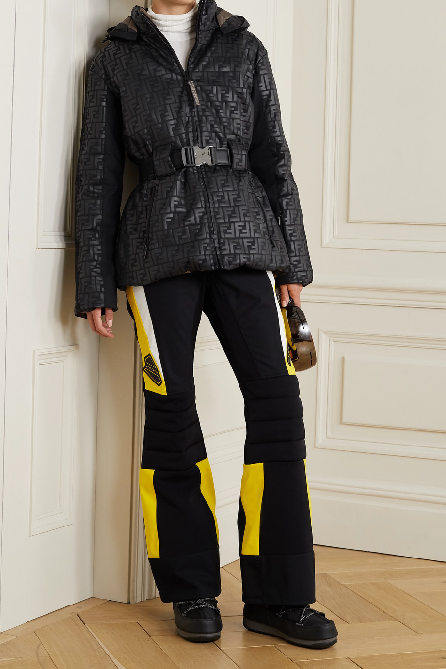 Fendi Reversible printed ski jacket