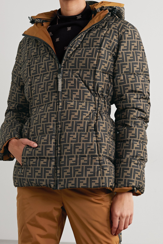 Fendi Reversible padded printed ski jacket