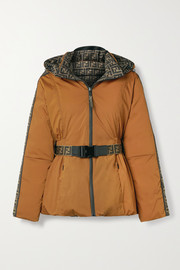 Fendi Reversible padded printed ski jacket