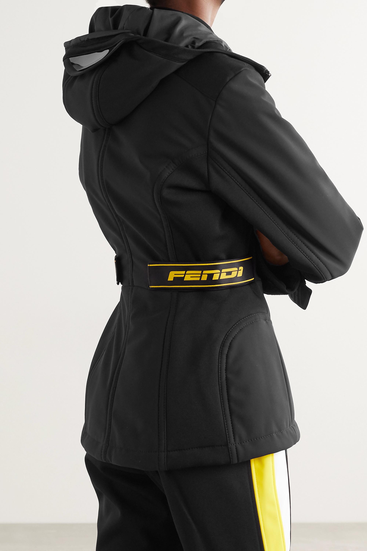 Fendi Rubber-trimmed paneled hooded ski jacket