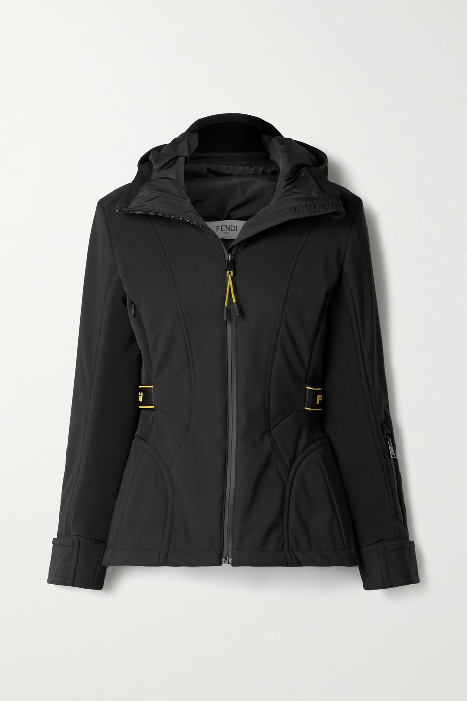 Fendi Rubber-trimmed paneled hooded ski jacket