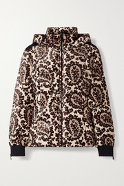 Fendi Printed velvet down ski jacket