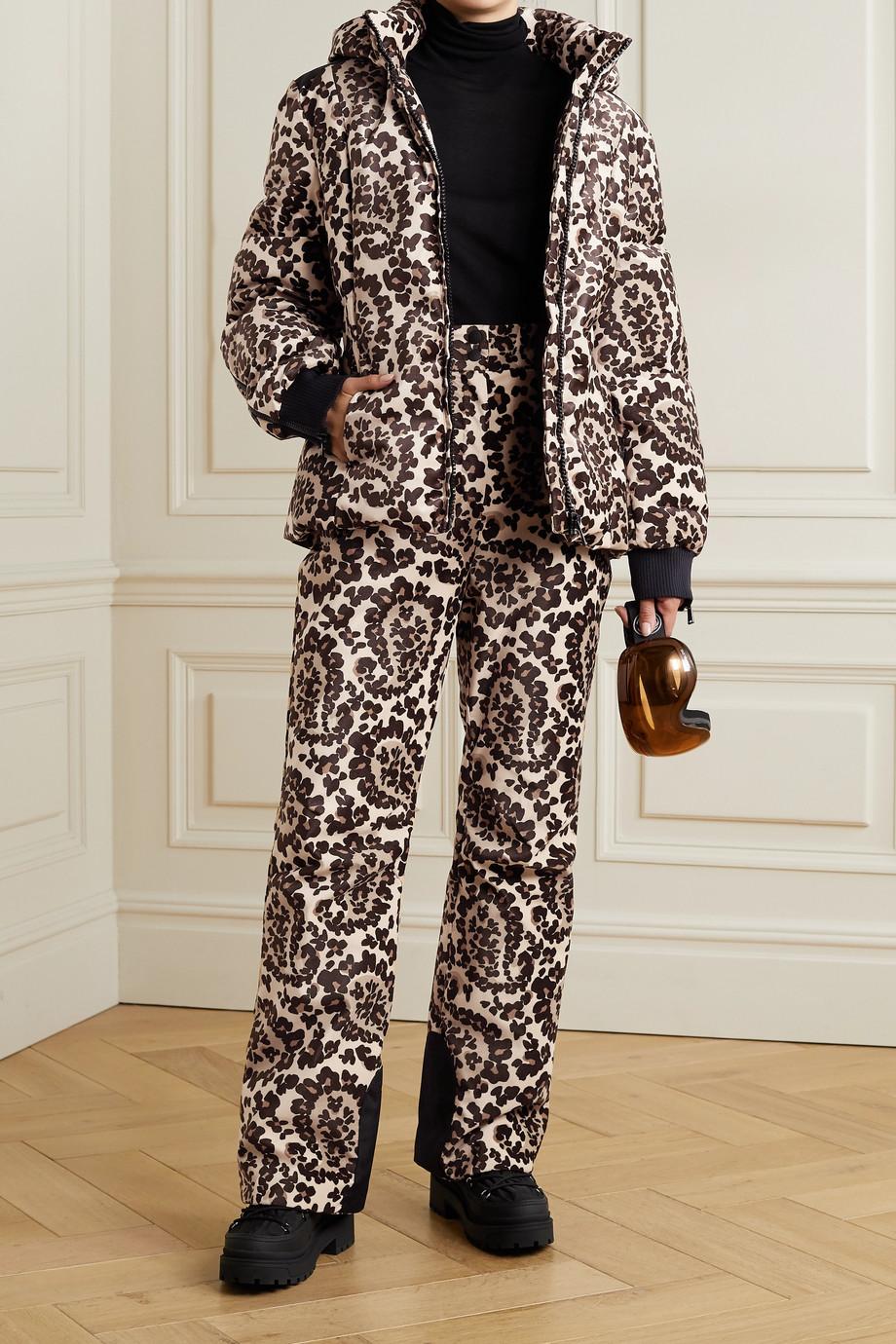 Fendi Printed velvet down ski jacket