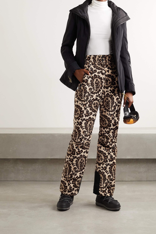 Fendi Printed velvet bootcut ski pants