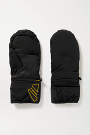 Fendi Rubber-trimmed padded shell and leather ski gloves