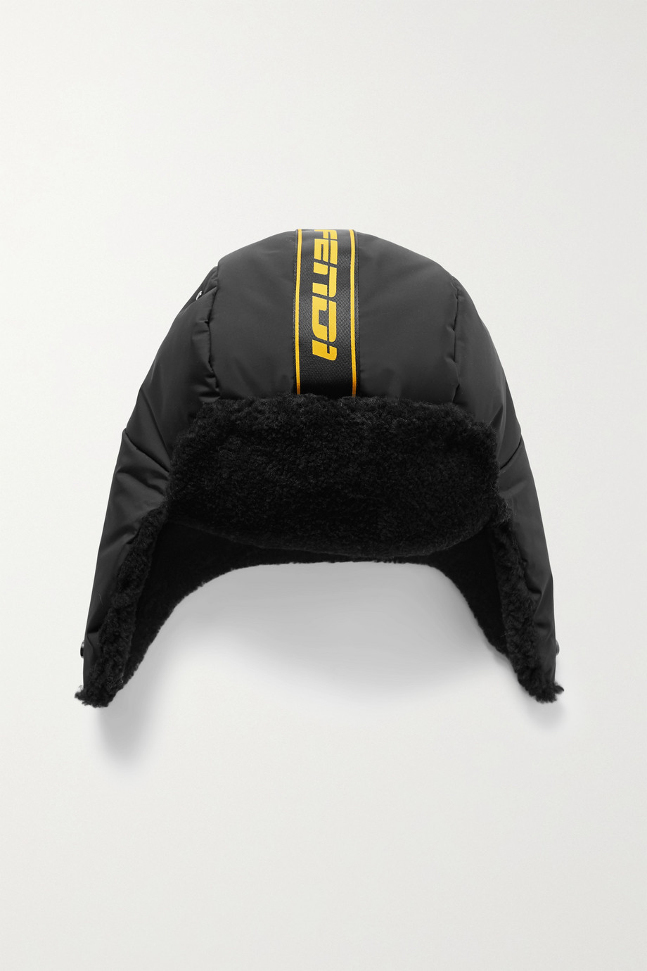 Fendi Shearling-trimmed shell hat
