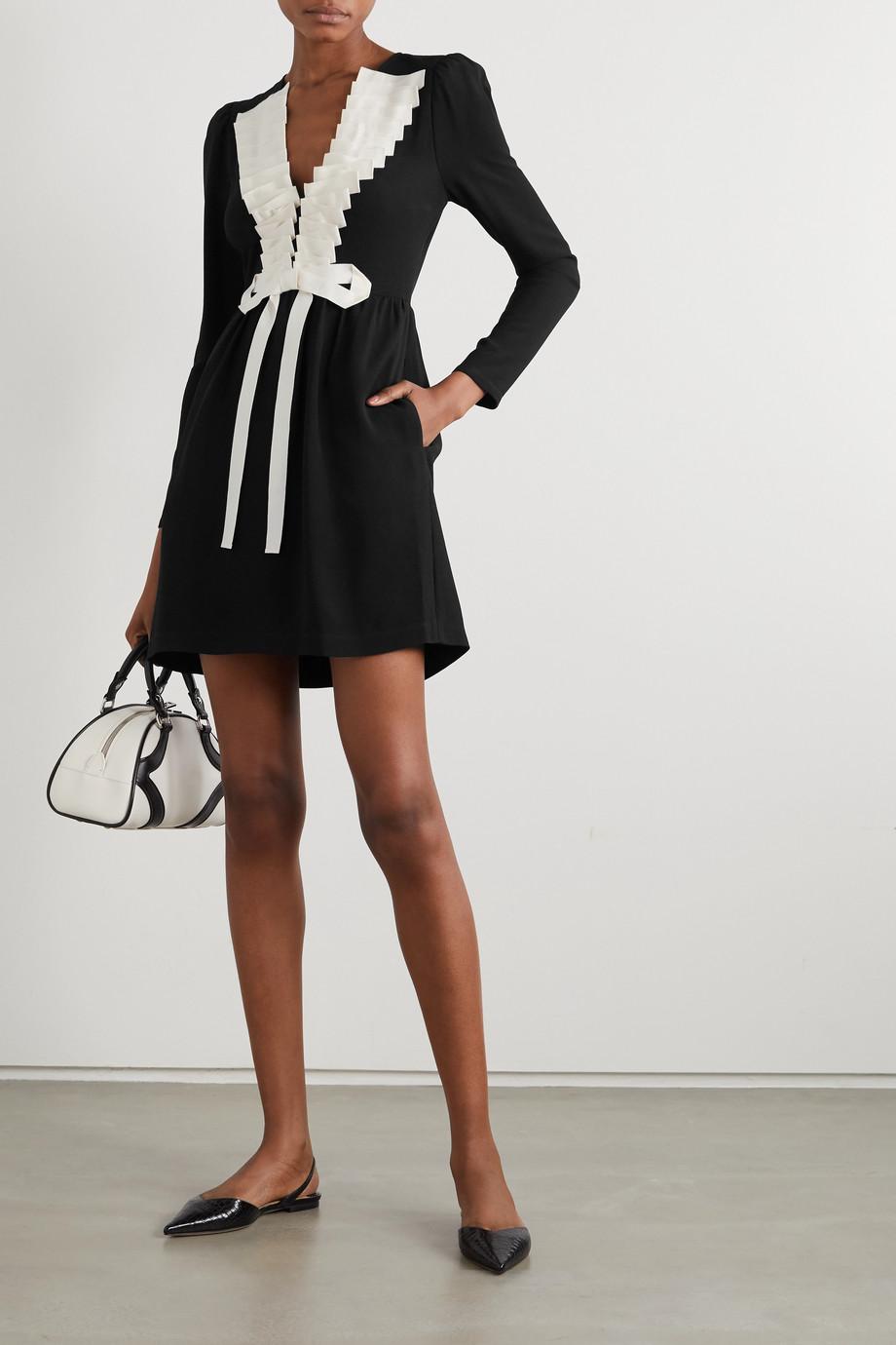 REDValentino Grosgrain-trimmed crepe mini dress