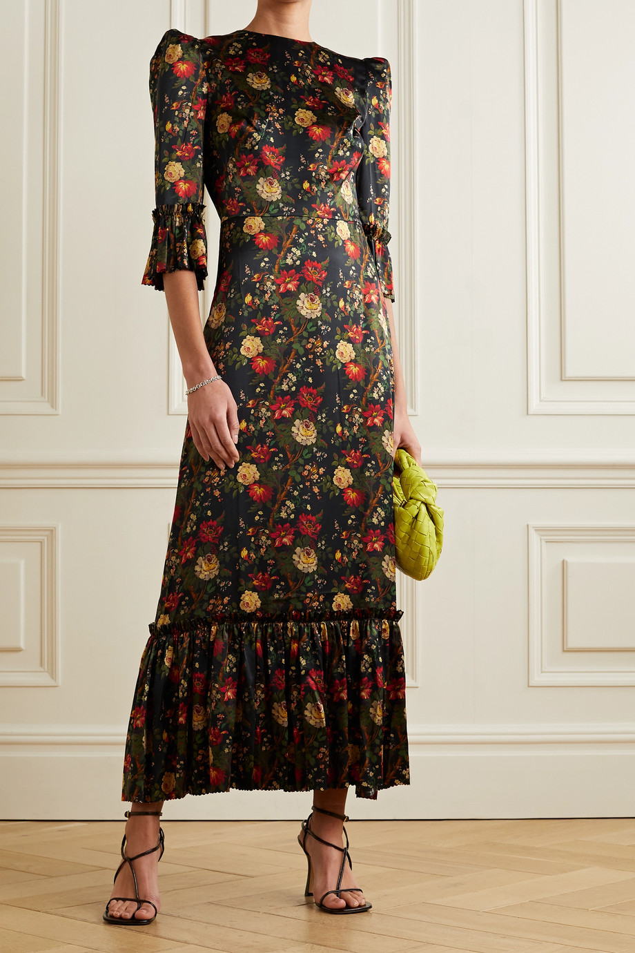 The Vampire's Wife The Festival ruffled floral-print silk-satin maxi dress