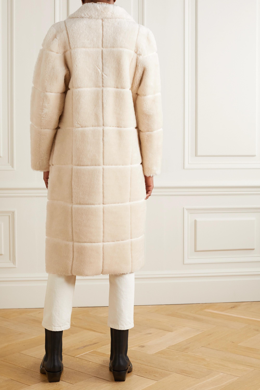 LVIR Checked faux shearling coat