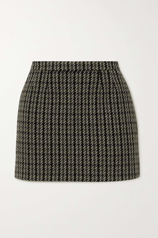 REDValentino Wool-blend tweed mini skirt
