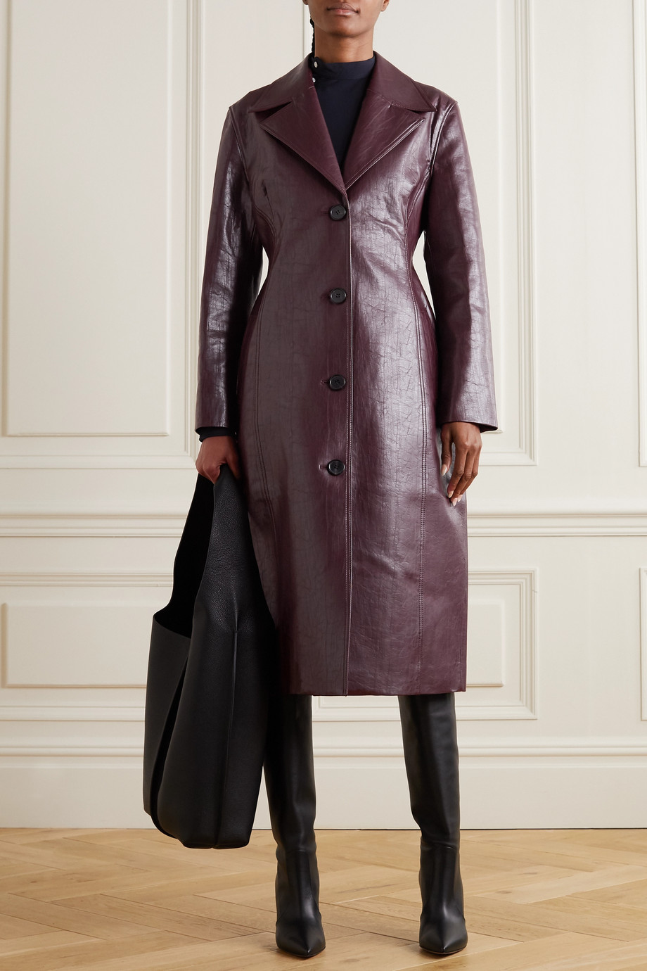 LVIR Faux leather coat