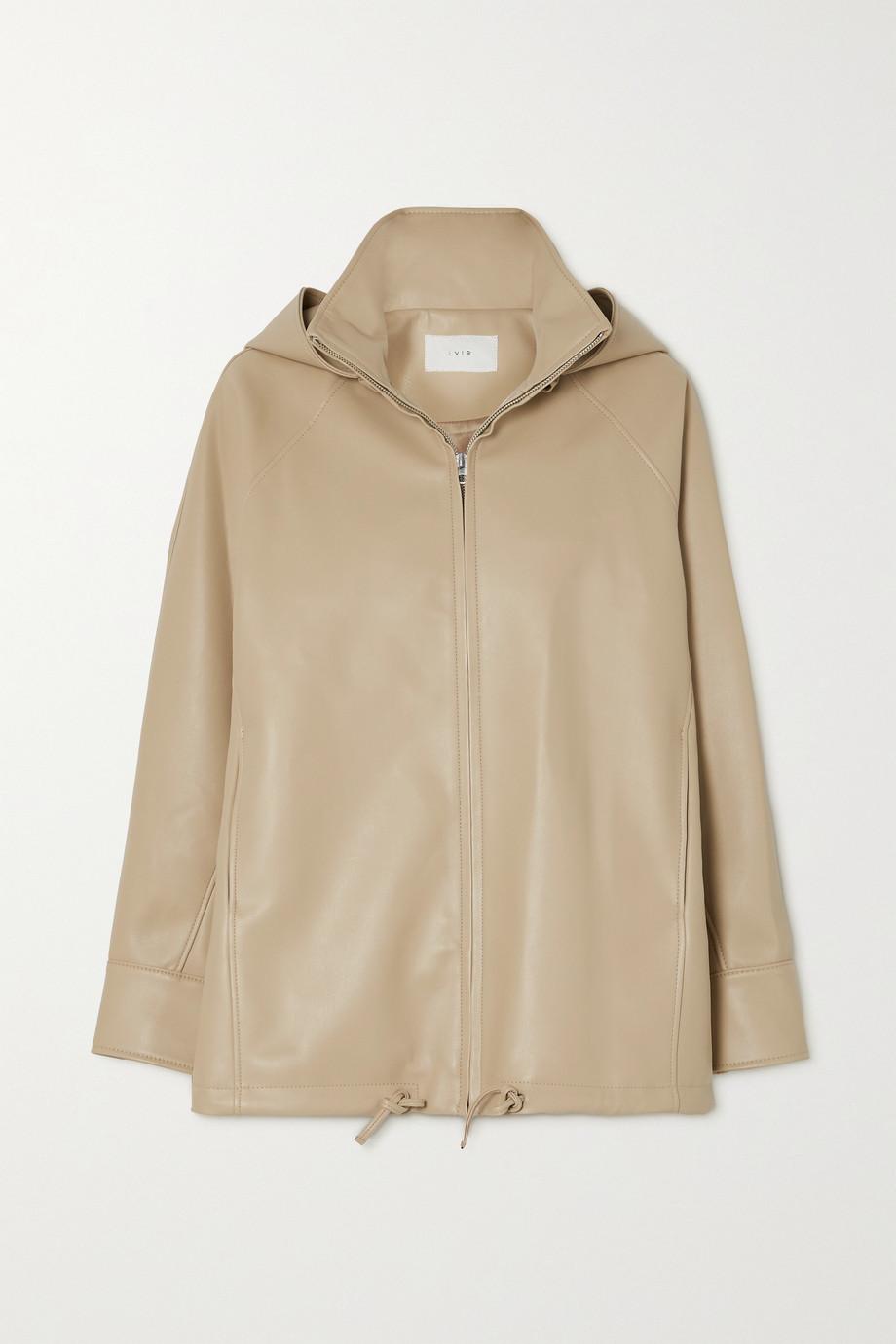 LVIR Faux leather hooded jacket