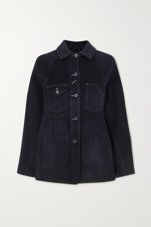 LVIR Topstitched wool-blend jacket