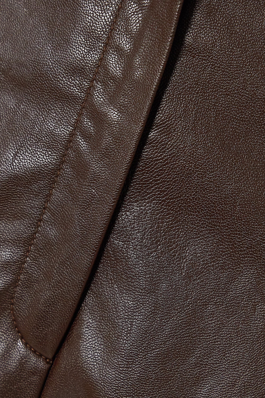 LVIR Faux leather straight-leg pants
