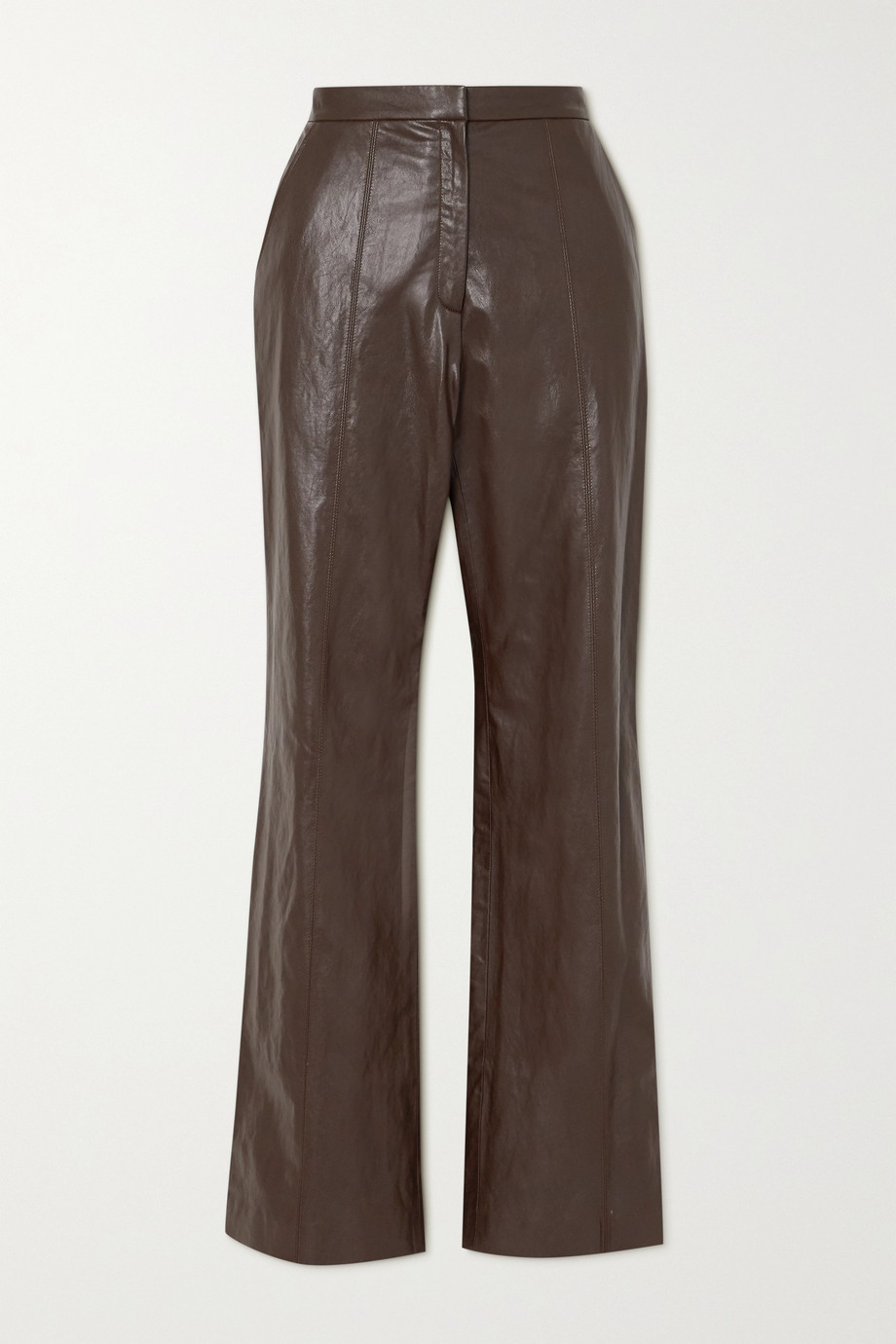 LVIR Faux leather straight-leg pants