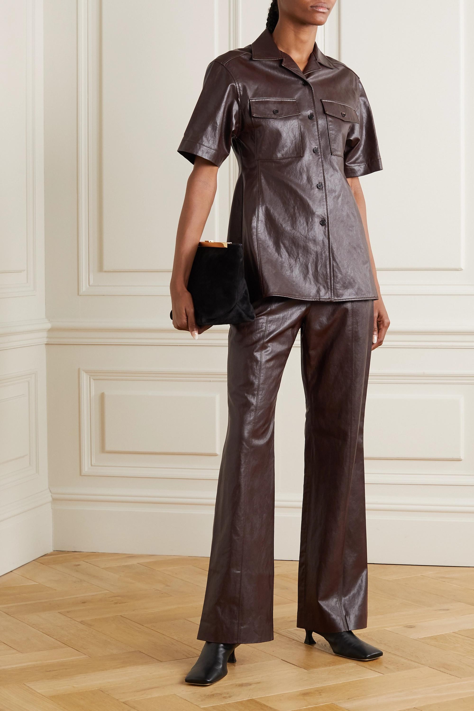 LVIR Faux leather shirt