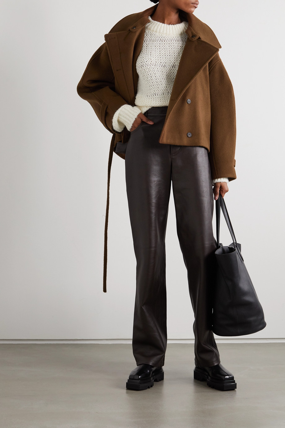 LE 17 SEPTEMBRE Belted wool coat